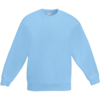 Vêtements Enfant Sweats Fruit Of The Loom Classics Bleu ciel