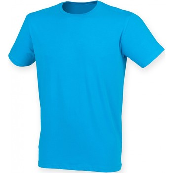 Vêtements Homme T-shirts manches courtes Skinni Fit Stretch Bleu saphir