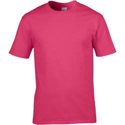 Vêtements Homme T-shirts manches courtes Gildan Premium Rose foncé