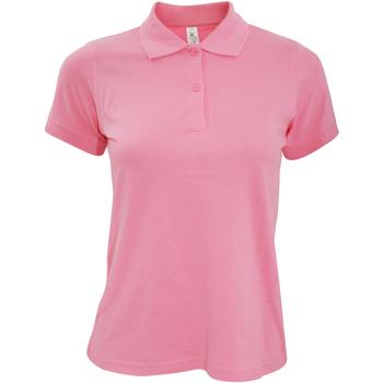 Vêtements Femme Polos manches courtes B And C PW455 Rose