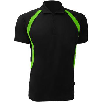 Vêtements Homme Polos manches courtes Gamegear Riviera Noir/Vert citron fluorescent