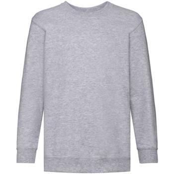 Vêtements Enfant Sweats Fruit Of The Loom 62041 Gris chiné