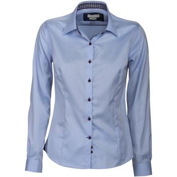 Vêtements Femme Chemises / Chemisiers J Harvest & Frost JF006 Bleu ciel/Bleu marine