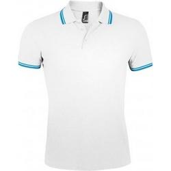 Vêtements Homme Polos manches courtes Sols Pasadena Blanc/bleu