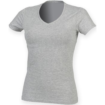 Vêtements Femme T-shirts manches courtes Skinni Fit Stretch Gris