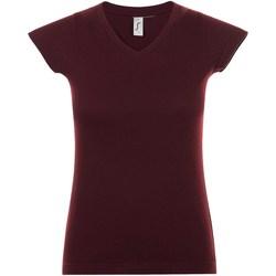 Vêtements Femme T-shirts manches courtes Sols Moon Bordeaux