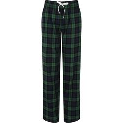 Vêtements Femme Pyjamas / Chemises de nuit Skinni Fit Tartan bleu marine/vert