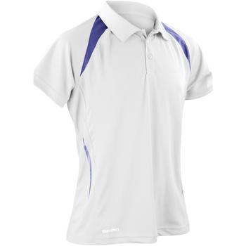 Vêtements Homme Polos manches courtes Spiro Performance Blanc/Bleu marine
