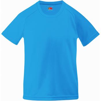 Vêtements Enfant T-shirts manches courtes Fruit Of The Loom Performance Bleu azur