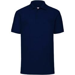 Vêtements Homme Polos manches courtes Fruit Of The Loom 63402 Bleu marine profond