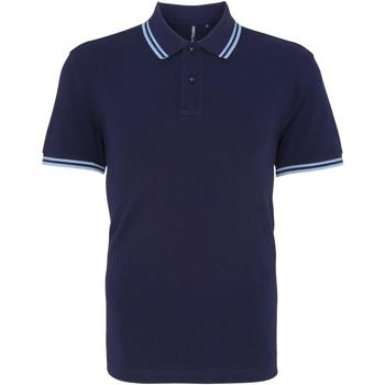 Vêtements Homme Polos manches courtes Asquith & Fox Classics Bleu marine/bleu clair