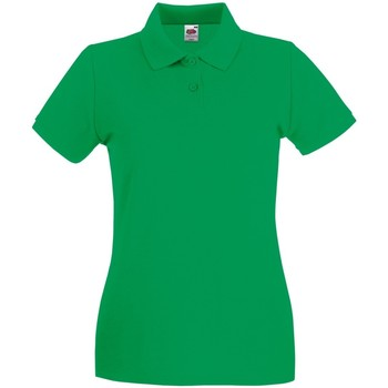 Vêtements Femme Polos manches courtes Fruit Of The Loom Premium Vert tendre