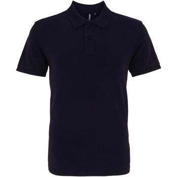 Vêtements Homme Polos manches courtes Asquith & Fox AQ010 Bleu marine délavé