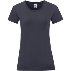 Vêtements Femme T-shirts manches courtes Fruit Of The Loom Iconic Bleu marine foncé