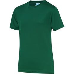 Vêtements Enfant T-shirts manches courtes Just Cool JC01J Vert bouteille