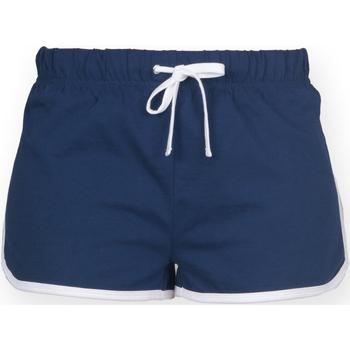 Vêtements Femme Shorts / Bermudas Skinni Fit Retro Bleu marine/Blanc
