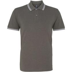 Vêtements Homme Polos manches courtes Asquith & Fox Classics Gris/blanc
