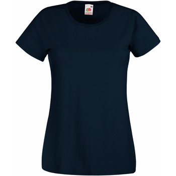 Vêtements Femme T-shirts manches courtes Fruit Of The Loom 61372 Bleu marine foncé