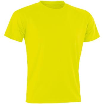 Vêtements Homme T-shirts manches courtes Spiro Aircool Jaune