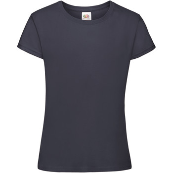 Vêtements Fille T-shirts manches courtes Fruit Of The Loom Sofspun Bleu marine