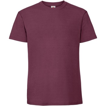 Vêtements Homme T-shirts manches courtes Fruit Of The Loom Premium Bordeaux