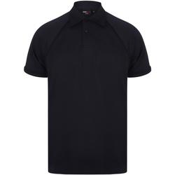Vêtements Homme Polos manches courtes Finden & Hales Piped Bleu marine/Bleu marine