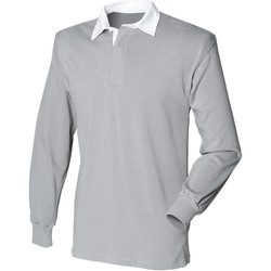 Vêtements Homme Polos manches longues Front Row Rugby Gris ardoise