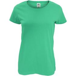 Vêtements Femme T-shirts manches courtes Fruit Of The Loom Original Vert tendre