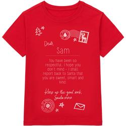Vêtements Enfant T-shirts manches courtes Christmas Shop CS145 Rouge