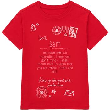 Vêtements Enfant T-shirts manches courtes Christmas Shop Christmas Rouge