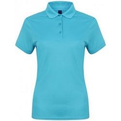 Vêtements Femme Polos manches courtes Henbury HB461 Turquoise