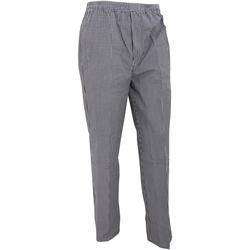 Vêtements Pantalons fluides / Sarouels Premier Work Noir/Carreaux blancs
