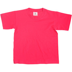 Vêtements Enfant T-shirts manches courtes B And C Exact 150 Fuchsia