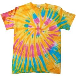 Vêtements Femme T-shirts manches courtes Colortone Rainbow Aurore