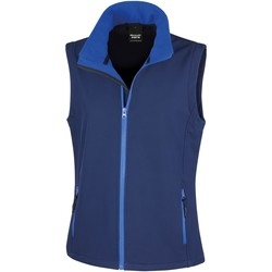 Vêtements Femme Gilets / Cardigans Result Printable Bleu marine/Bleu roi
