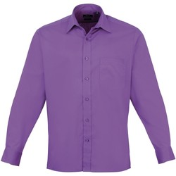 Vêtements Homme Chemises manches longues Premier Poplin Violet