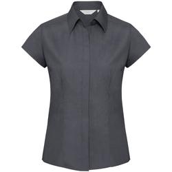 Vêtements Femme Chemises / Chemisiers Russell Collection Chemisier à mancherons BC1019 Gris