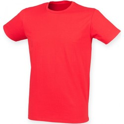 Vêtements Homme T-shirts manches courtes Skinni Fit Stretch Rouge