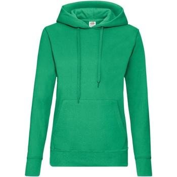Vêtements Femme Sweats Fruit Of The Loom Hooded Vert