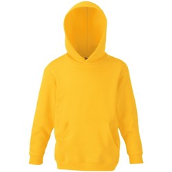 Vêtements Enfant Sweats Fruit Of The Loom Hooded Jaune
