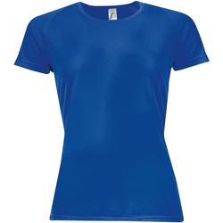 Vêtements Femme T-shirts manches courtes Sols Sporty Bleu roi