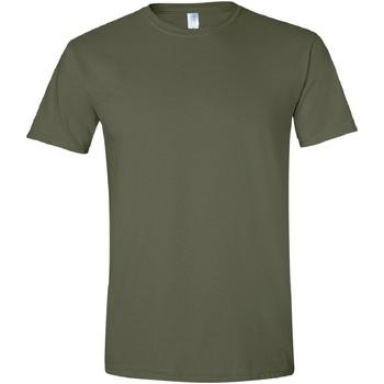 Vêtements Homme T-shirts manches courtes Gildan Soft-Style Vert kaki