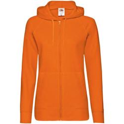 Vêtements Femme Sweats Fruit Of The Loom Lightweight Orange
