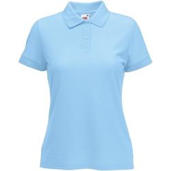 Vêtements Femme Polos manches courtes Fruit Of The Loom 63212 Bleu ciel