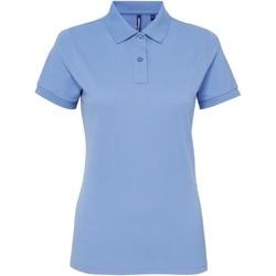 Vêtements Femme Polos manches courtes Asquith & Fox AQ025 Bleu