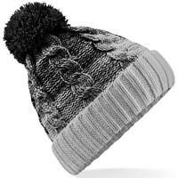 Accessoires textile Bonnets Beechfield Beanie Noir/Gris clair