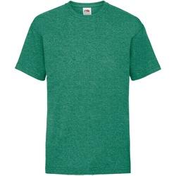 Vêtements Enfant T-shirts manches courtes Fruit Of The Loom 61033 Vert rétro chiné