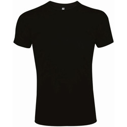 Vêtements Homme T-shirts manches courtes Sols Slim Fit Noir
