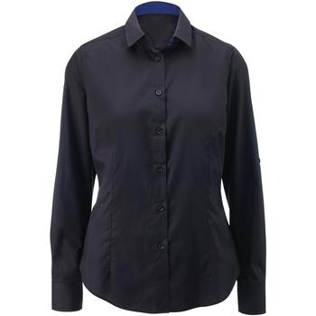Vêtements Femme Chemises / Chemisiers Alexandra AX060 Noir/Bleu roi