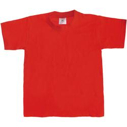 Vêtements Enfant T-shirts manches courtes B And C TK301 Rouge
